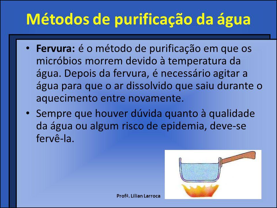 Métodos de purificação da água