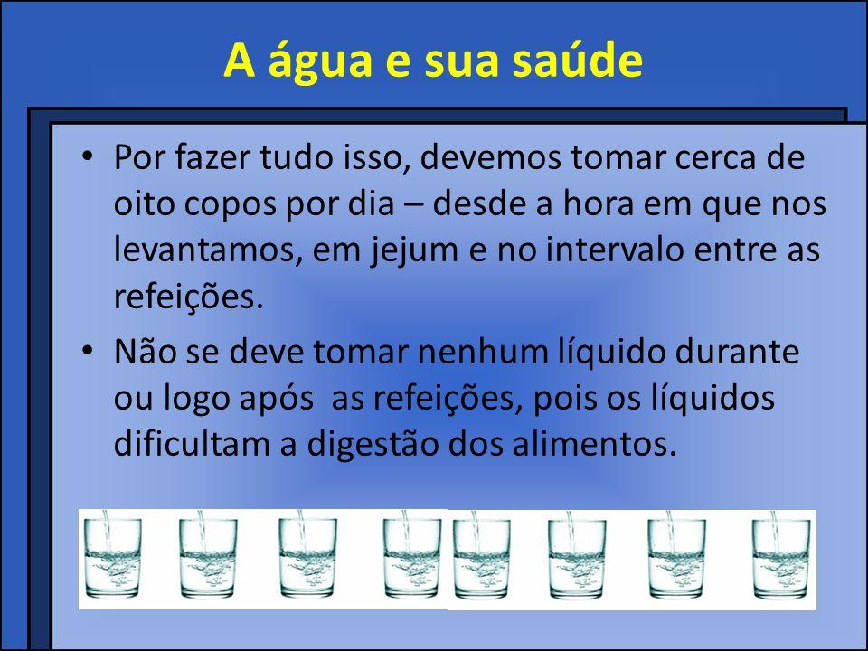 A água e sua saúde