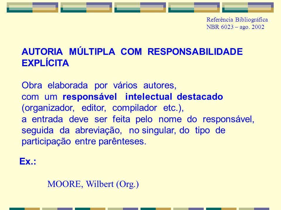 AUTORIA MÚLTIPLA COM RESPONSABILIDADE EXPLÍCITA