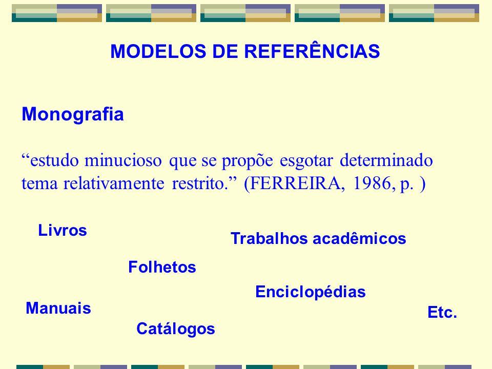 MODELOS DE REFERÊNCIAS