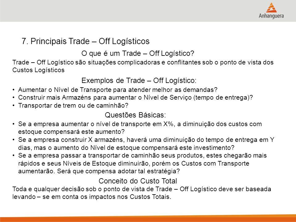 7. Principais Trade – Off Logísticos