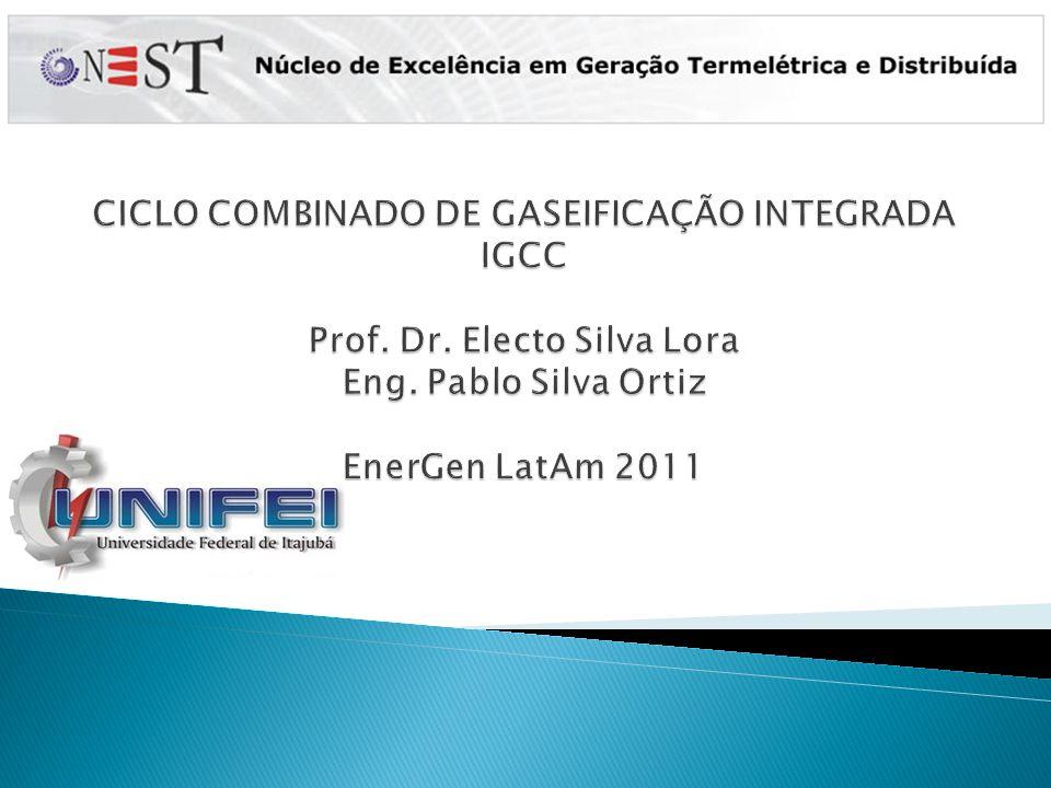 CICLO COMBINADO DE GASEIFICAÇÃO INTEGRADA IGCC Prof. Dr