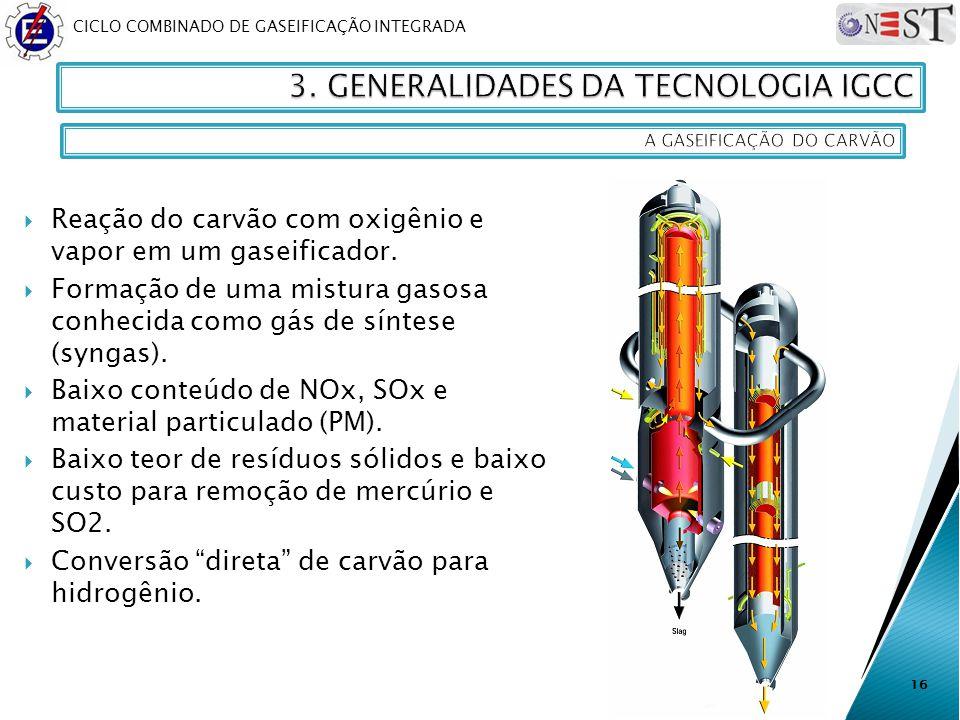 3. GENERALIDADES DA TECNOLOGIA IGCC