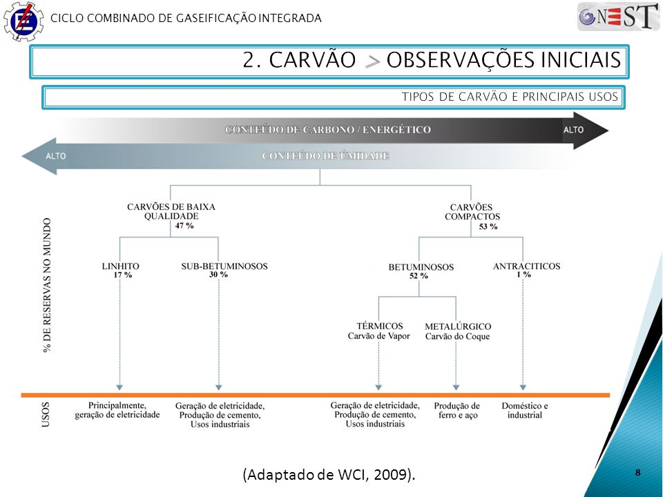 2. CARVÃO > OBSERVAÇÕES INICIAIS
