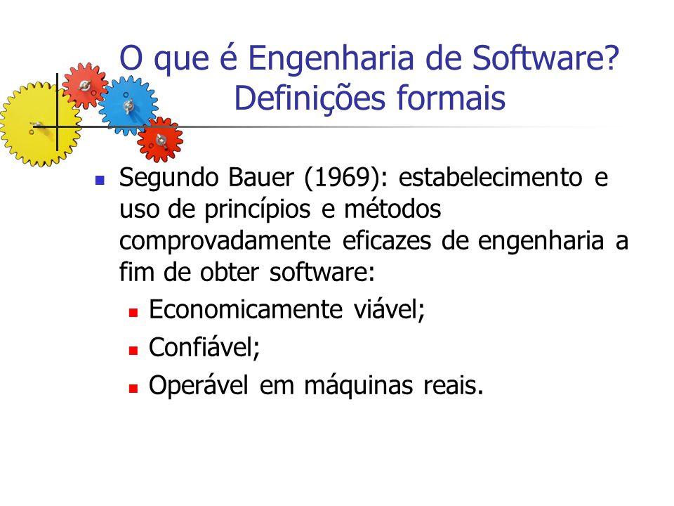 O que é Engenharia de Software Definições formais
