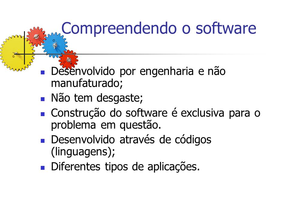 Compreendendo o software