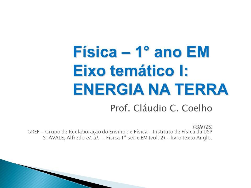 Física – 1° ano EM Eixo temático I: ENERGIA NA TERRA