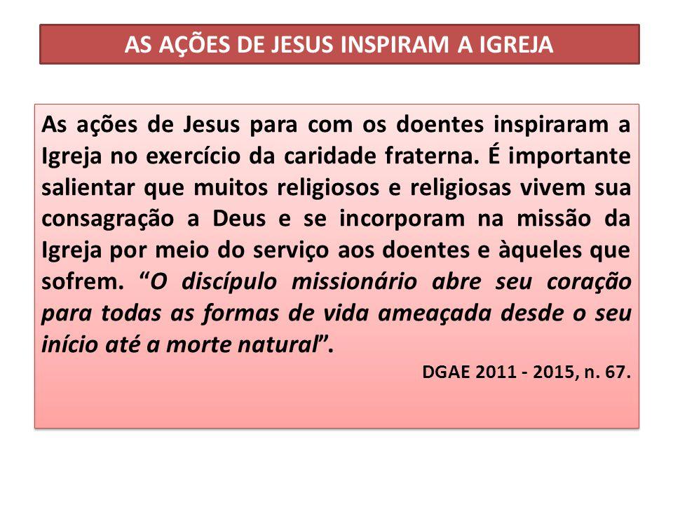 AS AÇÕES DE JESUS INSPIRAM A IGREJA