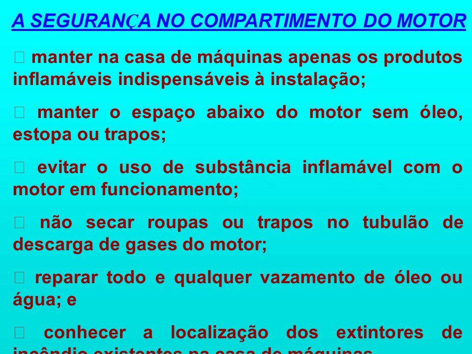 A SEGURANÇA NO COMPARTIMENTO DO MOTOR