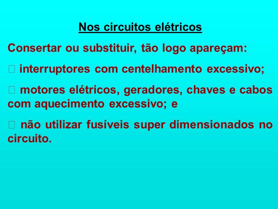 Nos circuitos elétricos