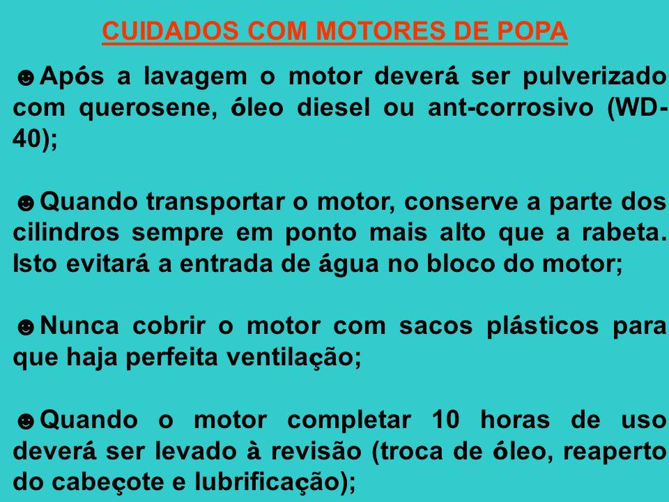 CUIDADOS COM MOTORES DE POPA