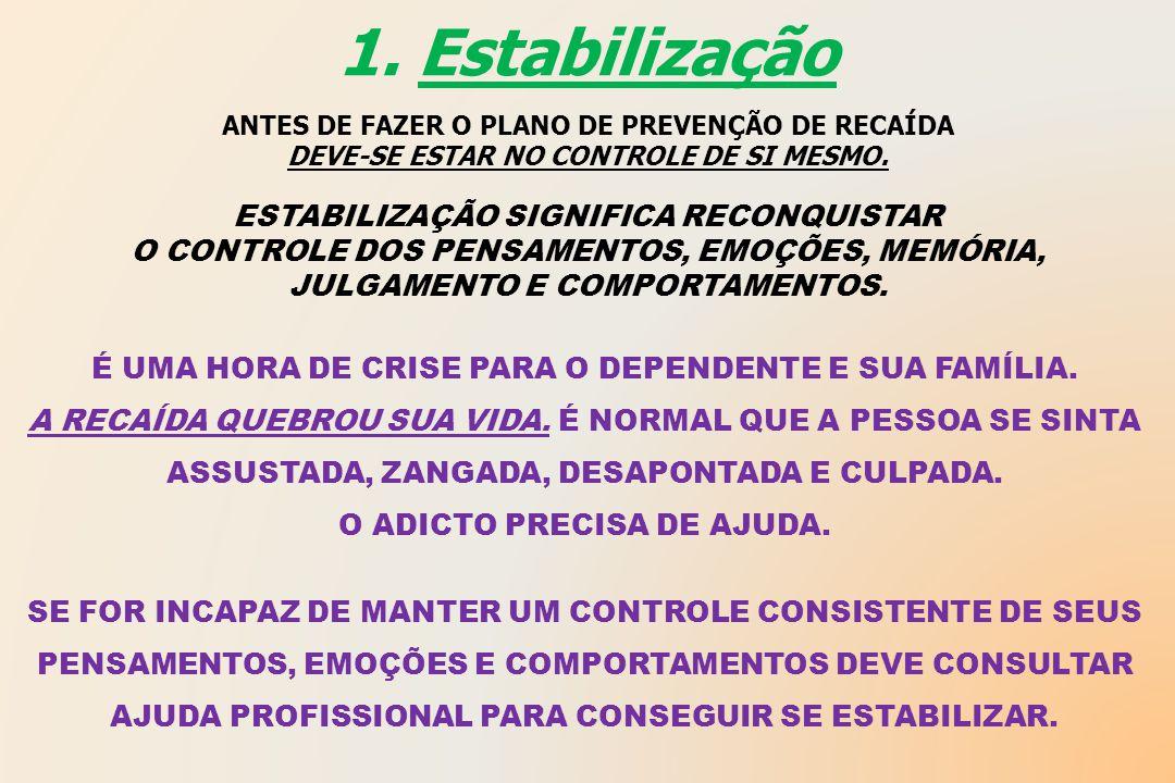 1. Estabilização ESTABILIZAÇÃO SIGNIFICA RECONQUISTAR