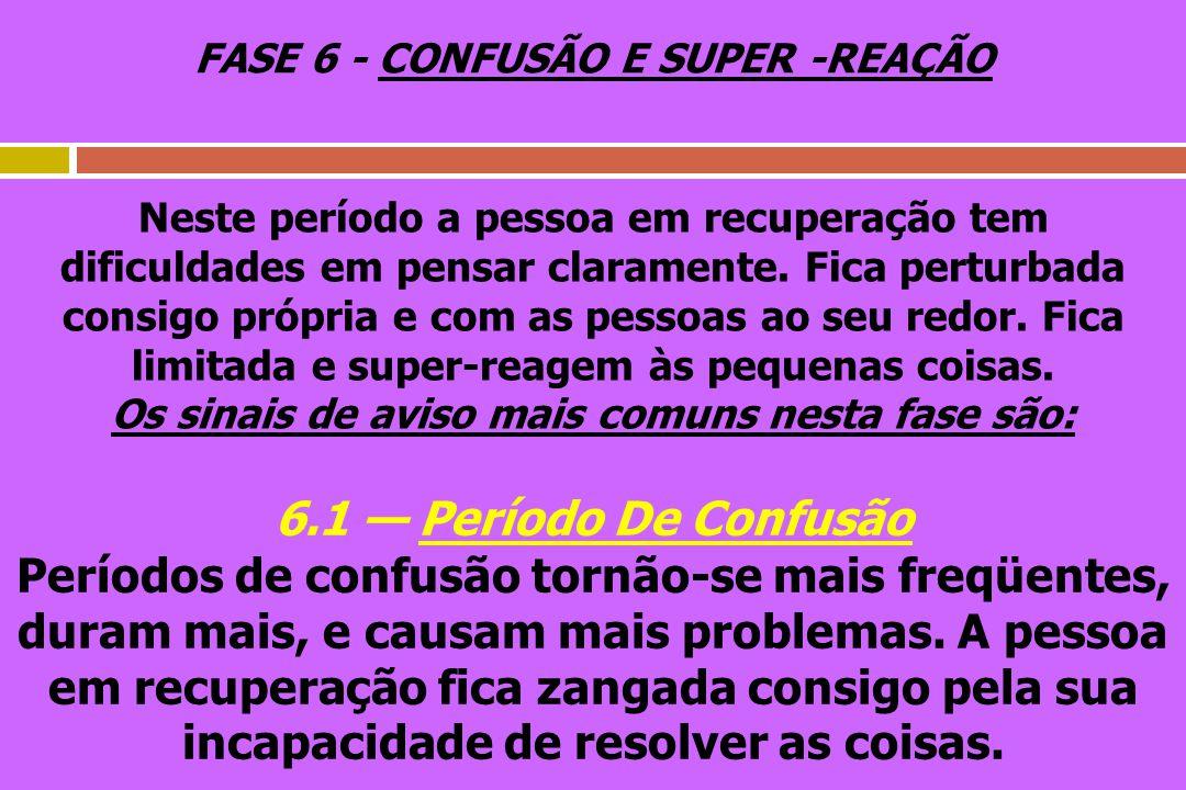 FASE 6 - CONFUSÃO E SUPER -REAÇÃO