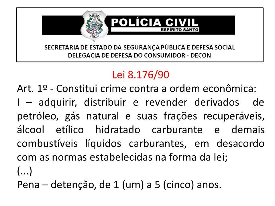 Art. 1º - Constitui crime contra a ordem econômica: