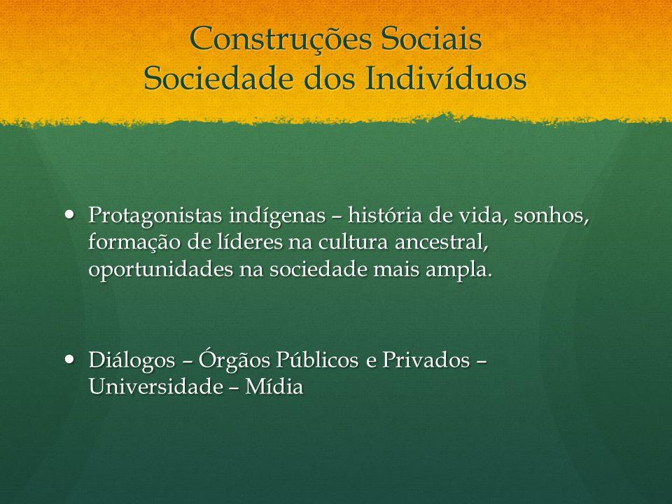 Construções Sociais Sociedade dos Indivíduos