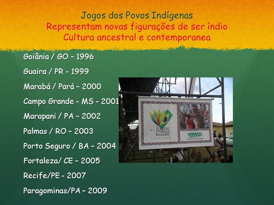 Jogos dos Povos Indígenas Representam novas figurações de ser índio Cultura ancestral e contemporanea