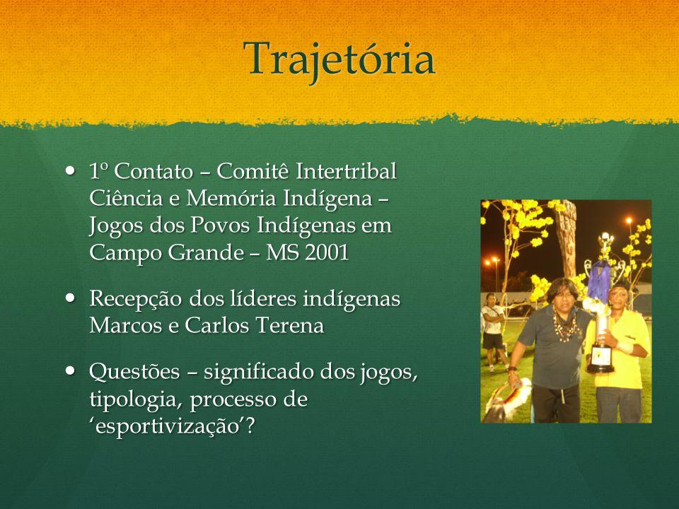 Trajetória 1º Contato – Comitê Intertribal Ciência e Memória Indígena – Jogos dos Povos Indígenas em Campo Grande – MS 2001.