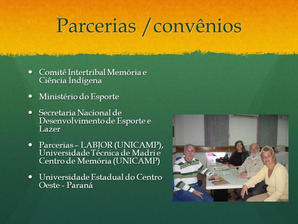 Parcerias /convênios Comitê Intertribal Memória e Ciência Indígena