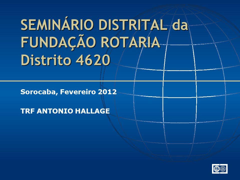 SEMINÁRIO DISTRITAL da FUNDAÇÃO ROTARIA Distrito 4620