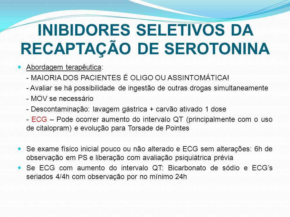 INIBIDORES SELETIVOS DA RECAPTAÇÃO DE SEROTONINA