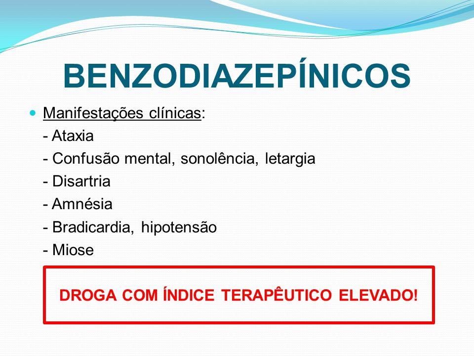 DROGA COM ÍNDICE TERAPÊUTICO ELEVADO!