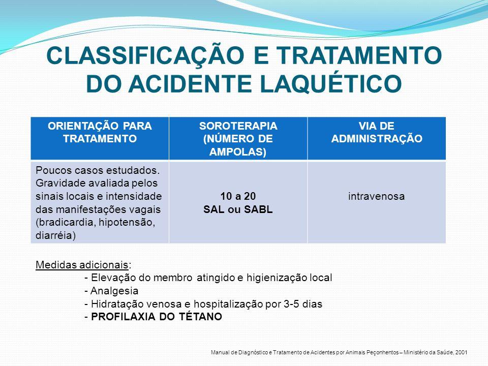 CLASSIFICAÇÃO E TRATAMENTO DO ACIDENTE LAQUÉTICO