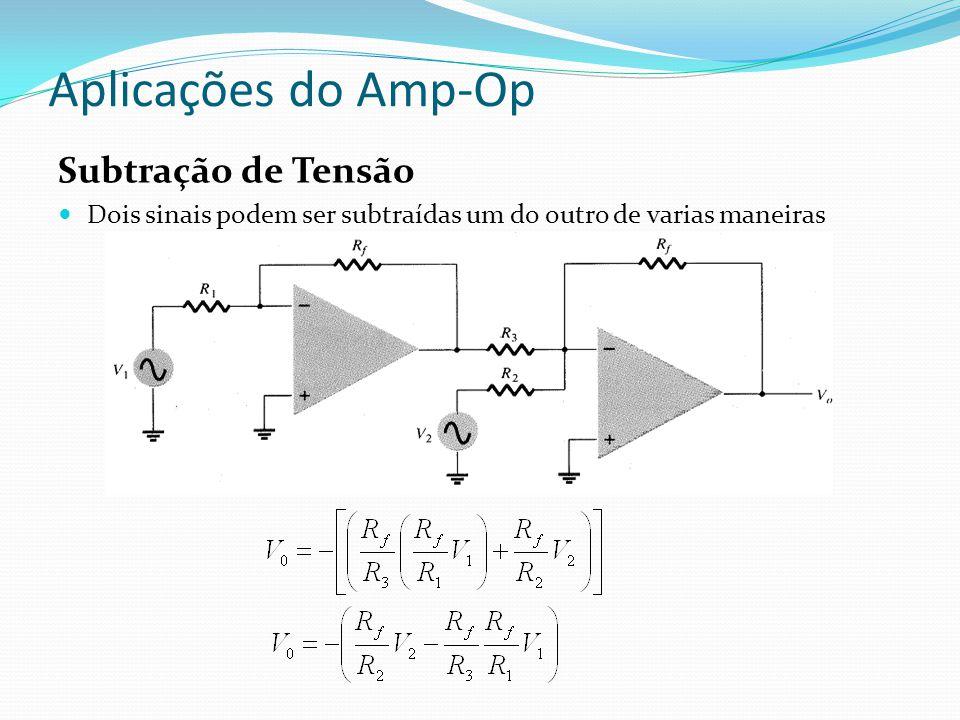 Aplicações do Amp-Op Subtração de Tensão