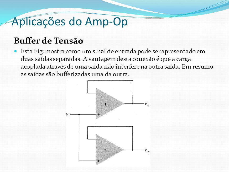Aplicações do Amp-Op Buffer de Tensão