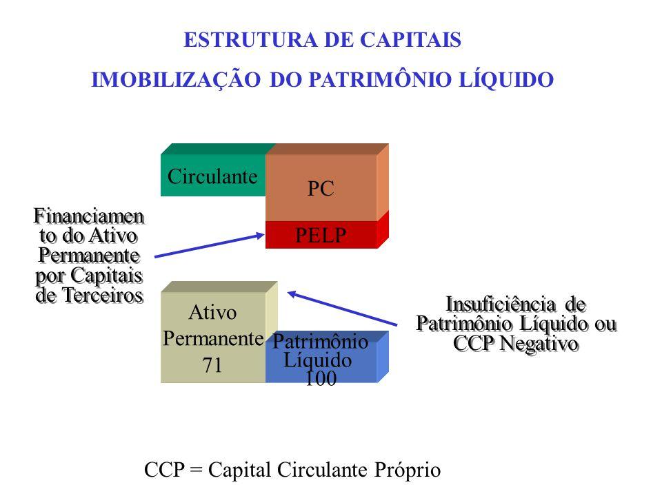 IMOBILIZAÇÃO DO PATRIMÔNIO LÍQUIDO