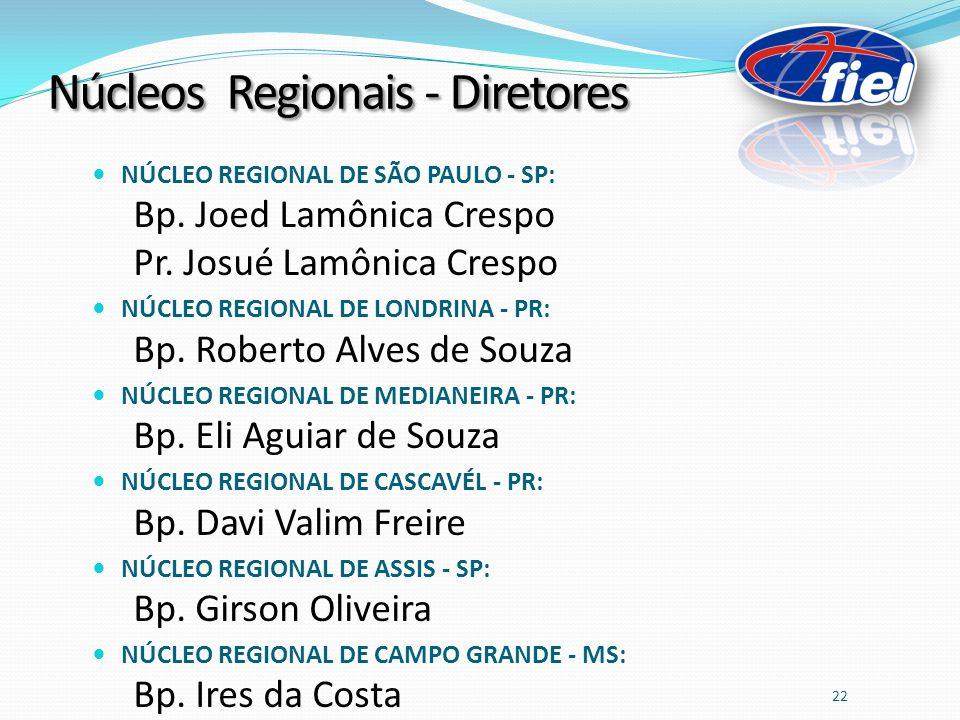 Núcleos Regionais - Diretores