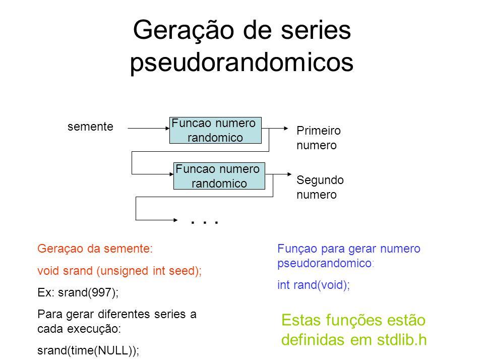 Geração de series pseudorandomicos