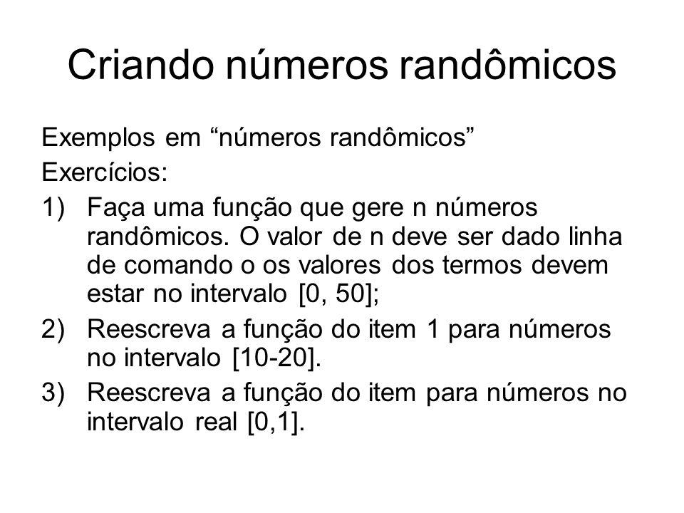 Criando números randômicos