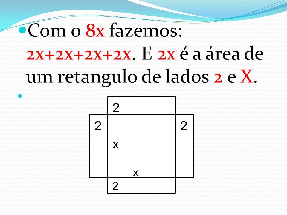 Com o 8x fazemos: 2x+2x+2x+2x