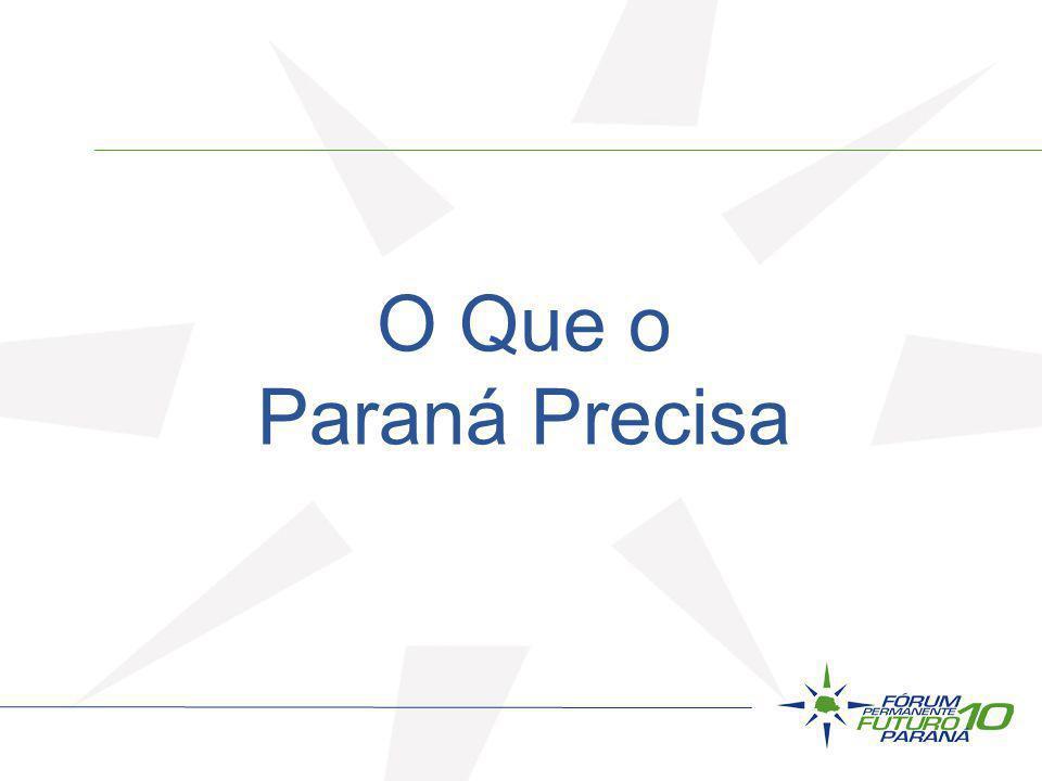 O Que o Paraná Precisa 2