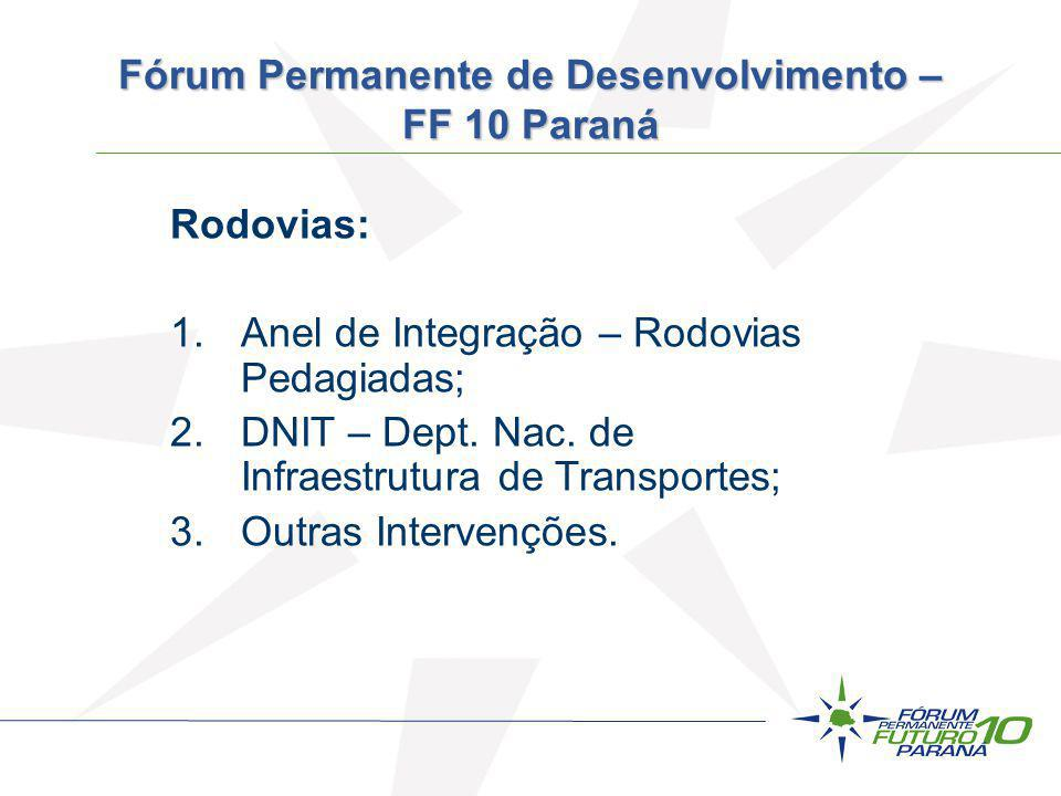 Fórum Permanente de Desenvolvimento – FF 10 Paraná