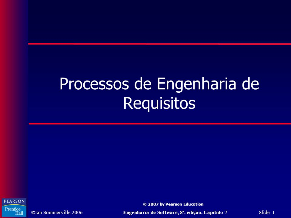 Processos de Engenharia de Requisitos