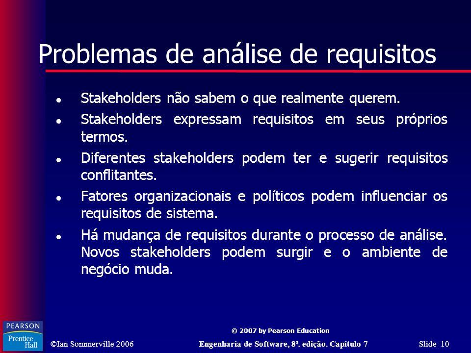 Problemas de análise de requisitos