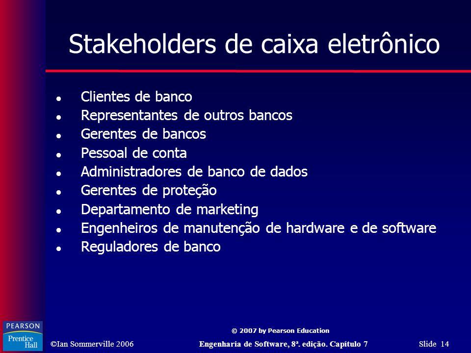 Stakeholders de caixa eletrônico