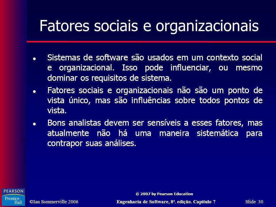 Fatores sociais e organizacionais