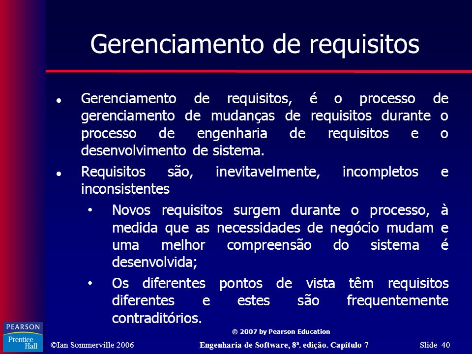 Gerenciamento de requisitos