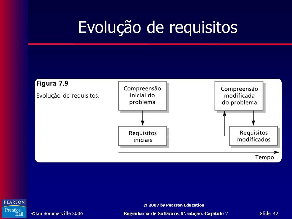 Evolução de requisitos