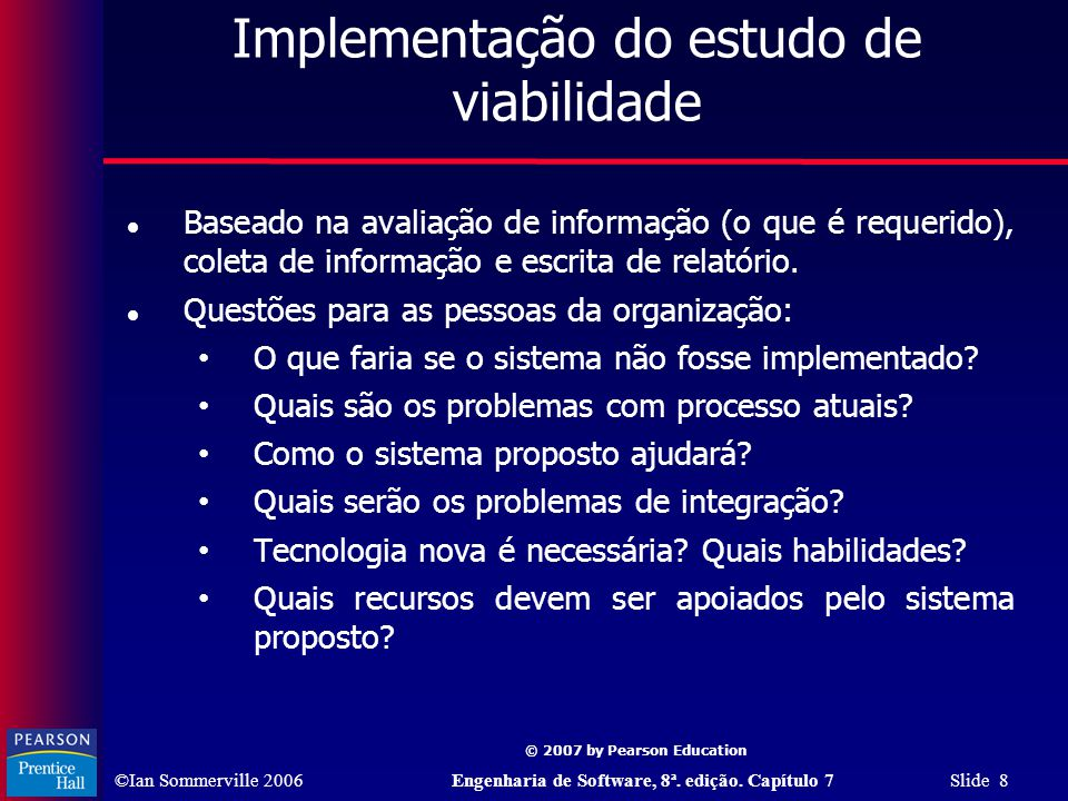 Implementação do estudo de viabilidade