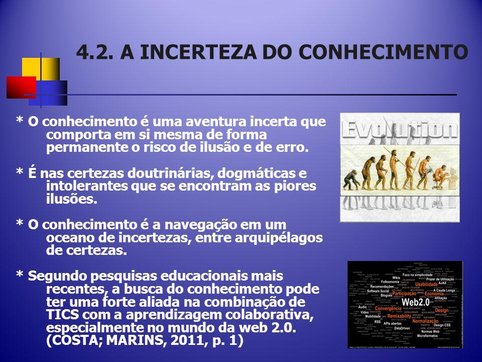 4.2. A INCERTEZA DO CONHECIMENTO