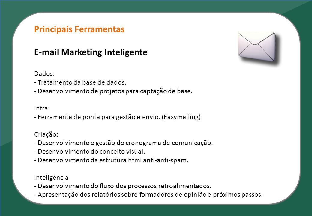 Principais Ferramentas E-mail Marketing Inteligente