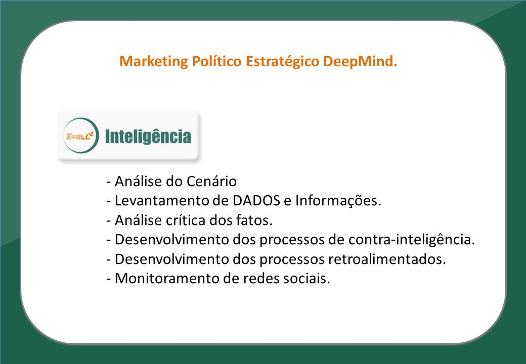 Marketing Político Estratégico DeepMind.
