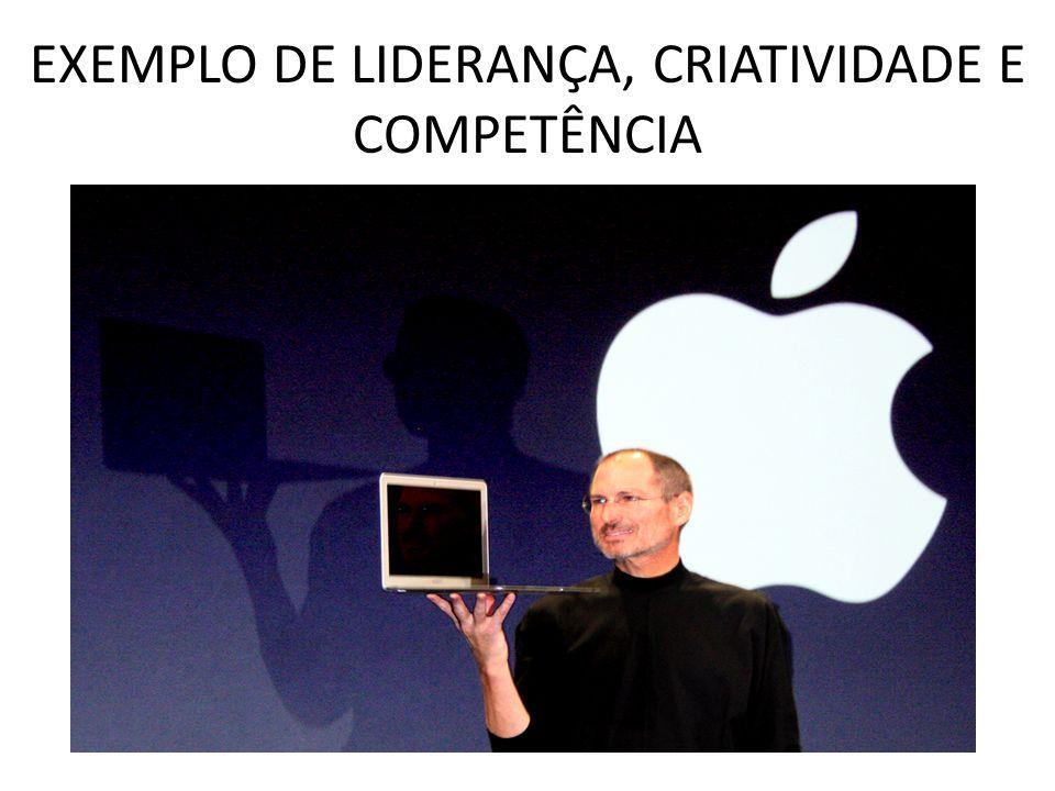EXEMPLO DE LIDERANÇA, CRIATIVIDADE E COMPETÊNCIA