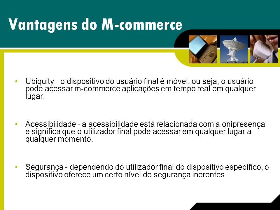 Vantagens do M-commerce
