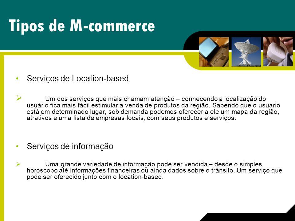 Tipos de M-commerce Serviços de Location-based