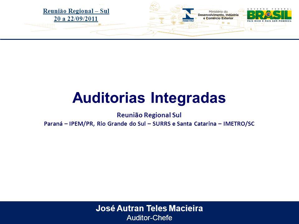 Auditorias Integradas José Autran Teles Macieira