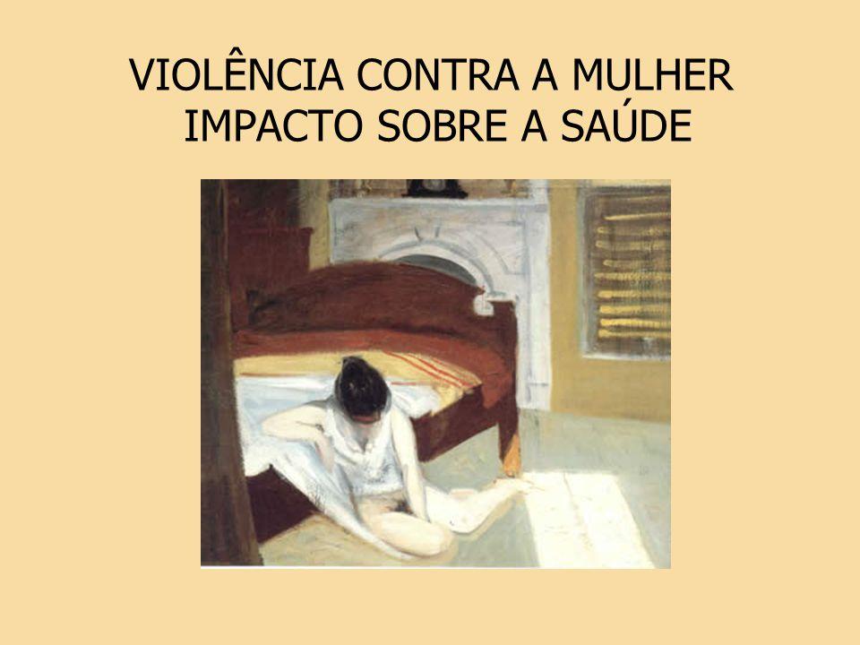 VIOLÊNCIA CONTRA A MULHER IMPACTO SOBRE A SAÚDE